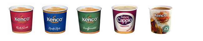 Kenco Coffee in cup cups